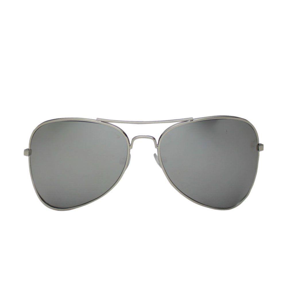 Óculos De Sol Díspar D2016 Aviador Max Espelhado - Prata
