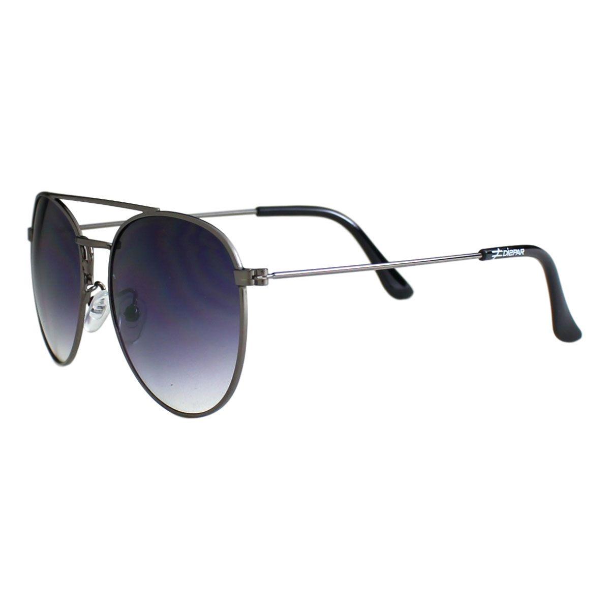 Óculos De Sol Díspar D2021 Ponte Dupla- Chumbo