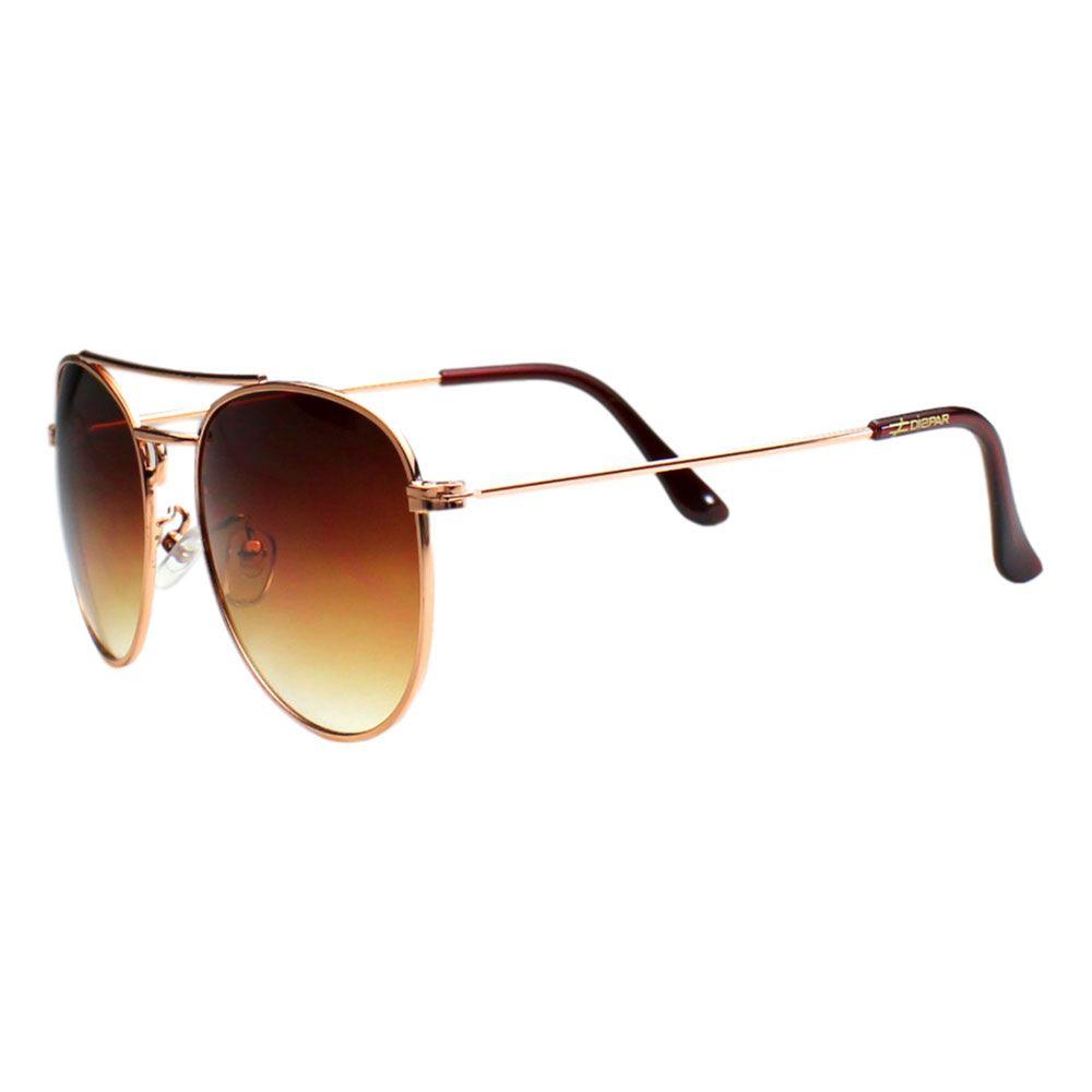Óculos De Sol Díspar D2021 Ponte Dupla- Dourado