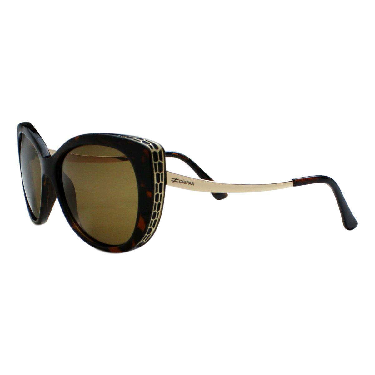 Óculos De Sol Díspar D2031 Gatinho Lentes Polarizadas- Demi