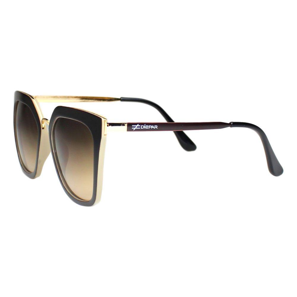 Óculos De Sol Díspar D2113 - Marrom/Crema
