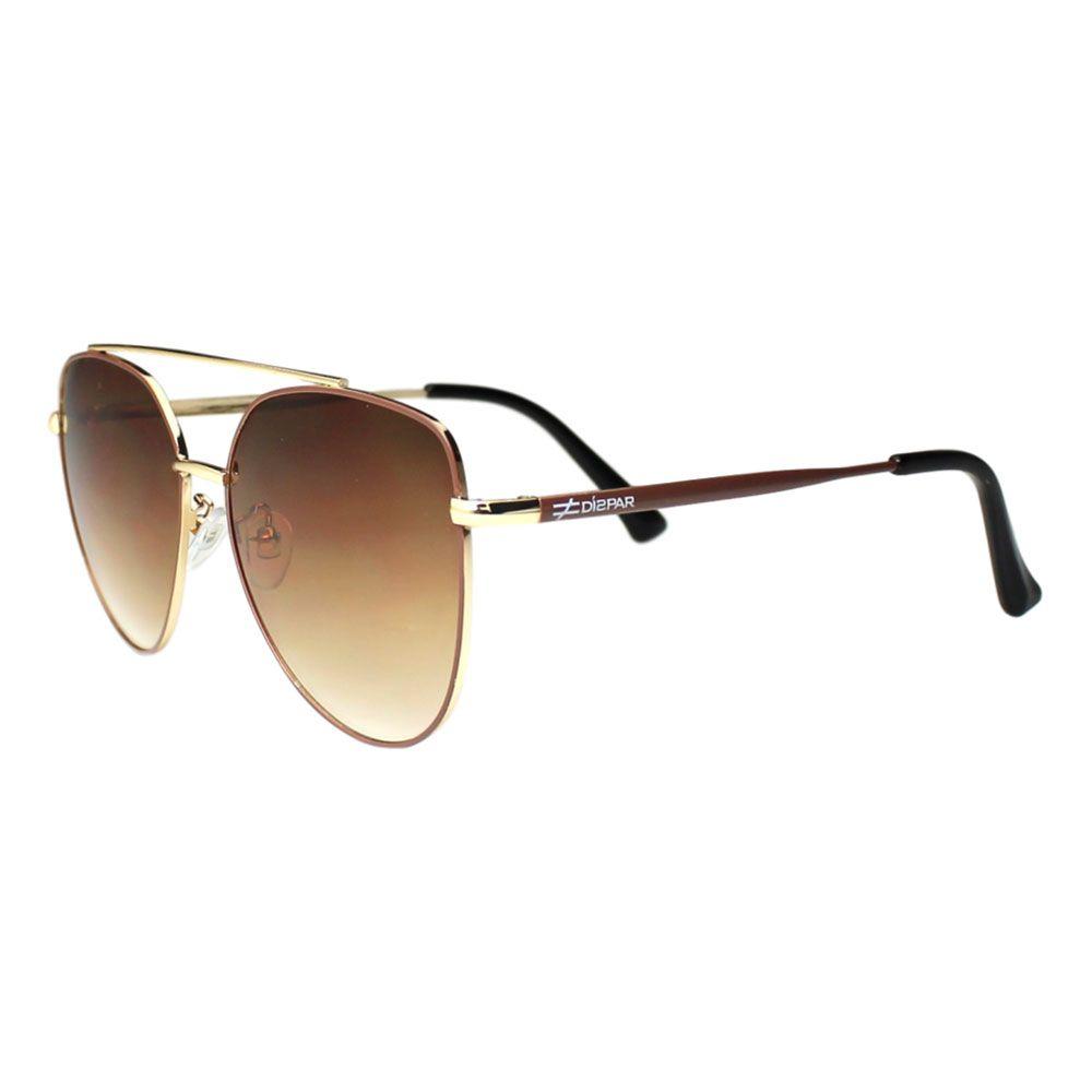 Óculos De Sol Díspar D2114 Aviador - Dourado