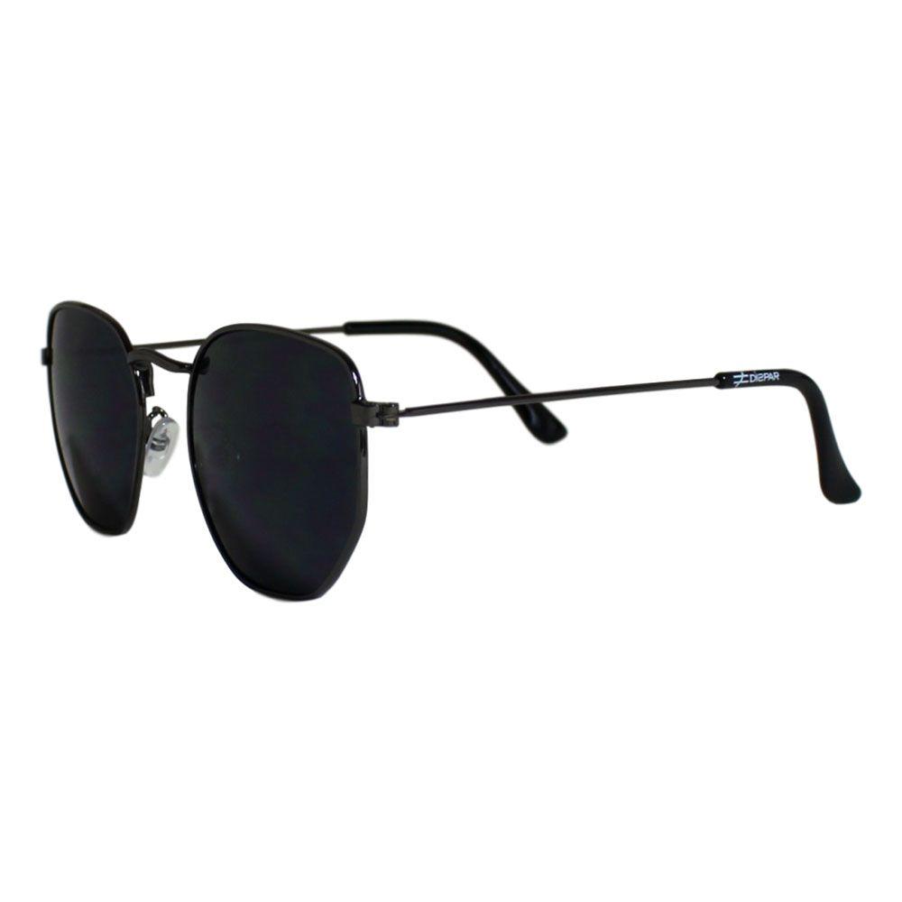 Óculos De Sol Díspar D2125 Hexagonal - Chumbo