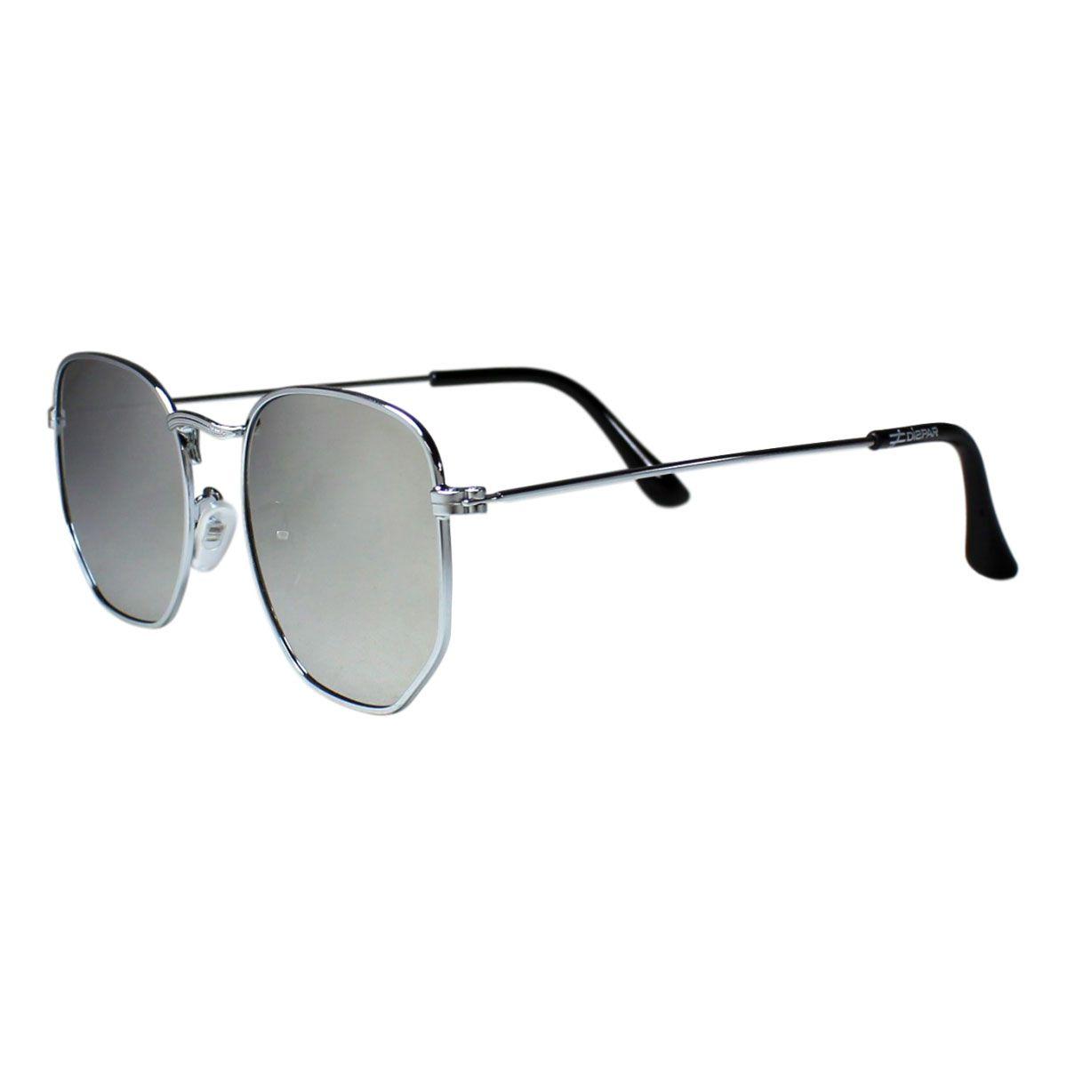Óculos De Sol Díspar D2213 Hexagonal - Prata