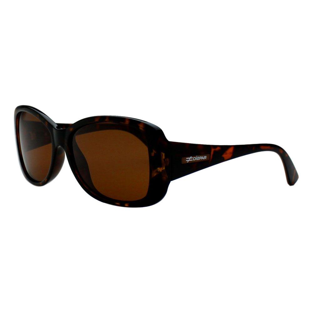 Óculos De Sol Díspar D2251 Retangular Lentes Polarizadas - Tartaruga