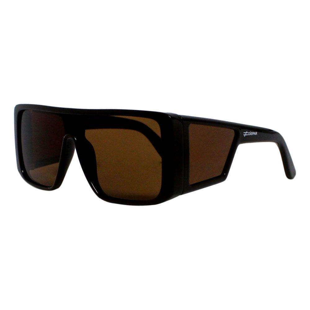 Óculos De Sol Díspar D2252 Vintage Máscara - Marrom