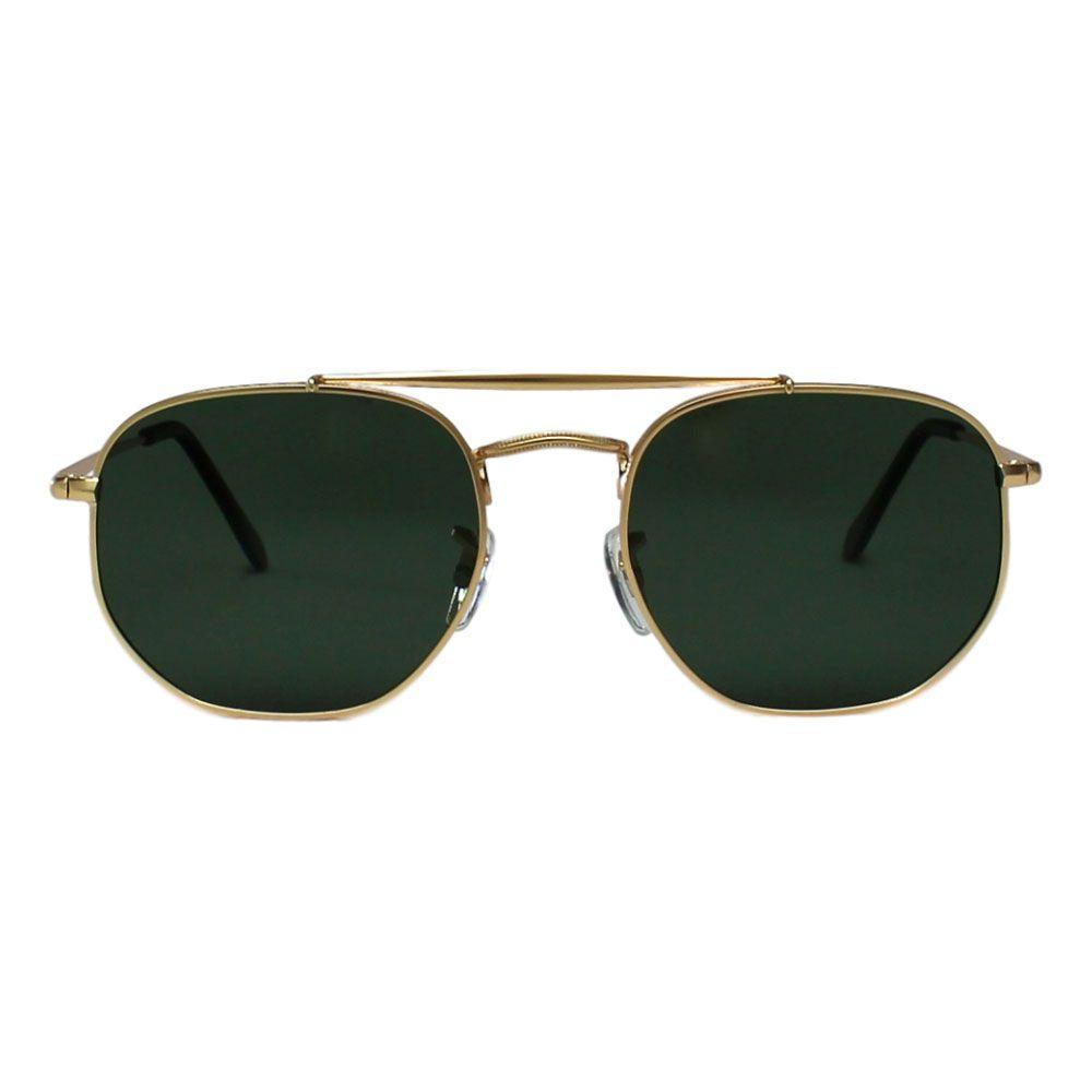 Óculos De Sol Díspar D2255 Ponte Dupla G-15 Lentes Polarizadas - Dourado