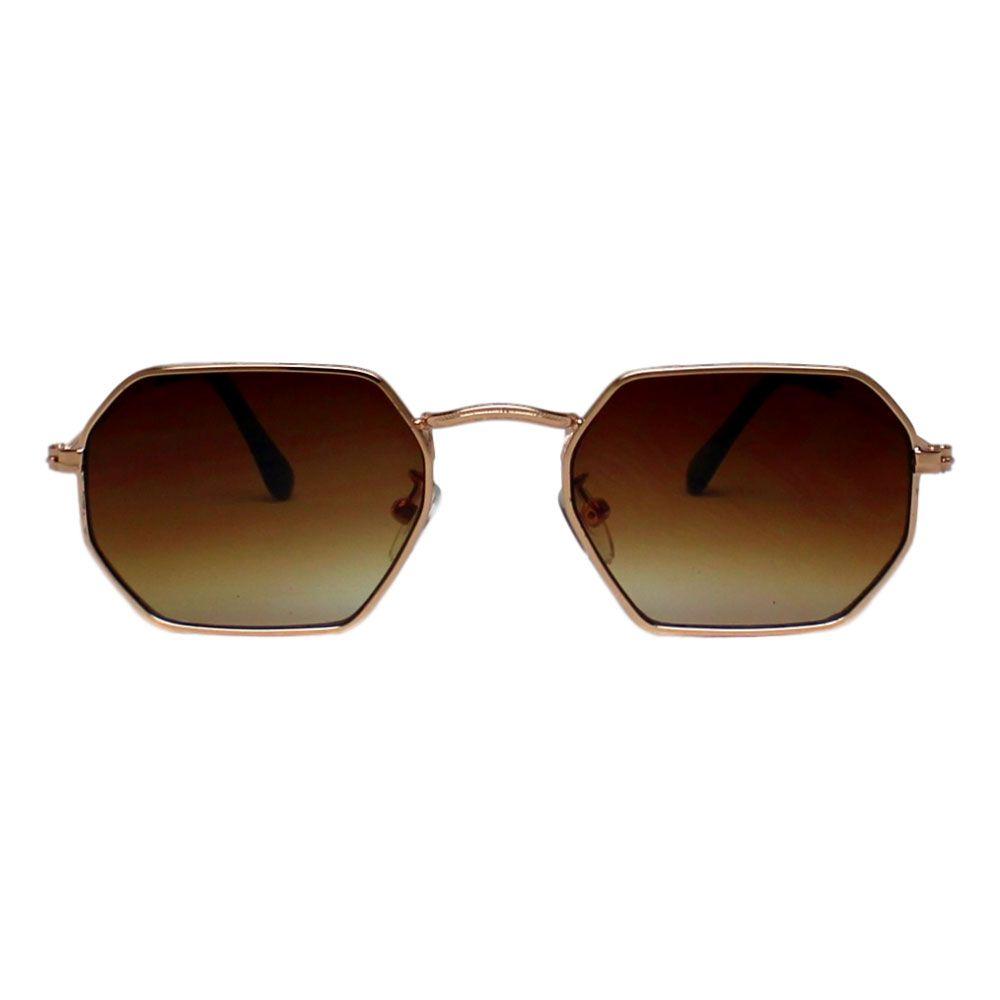 Óculos De Sol Díspar D2264 Octagonal - Dourado
