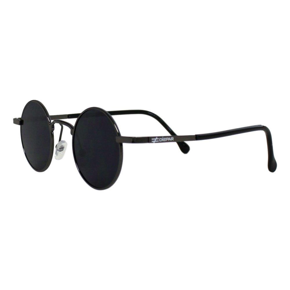 Óculos de Sol Díspar D2269 Redondo Skinny - Chumbo