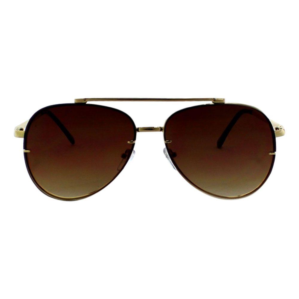 Óculos De Sol Díspar D2277 Aviador - Dourado/Marrom