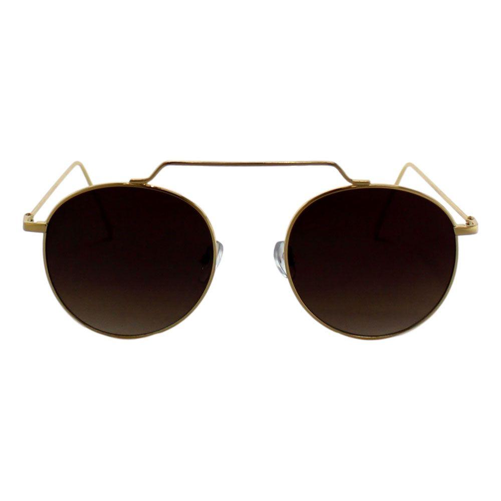 Óculos De Sol Díspar D2279 Redondo - Dourado