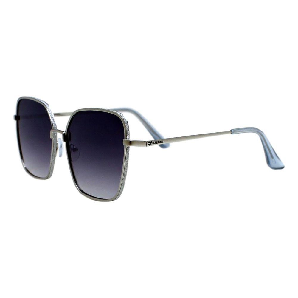 Óculos De Sol Díspar D2282 Quadrado Glitter - Prata