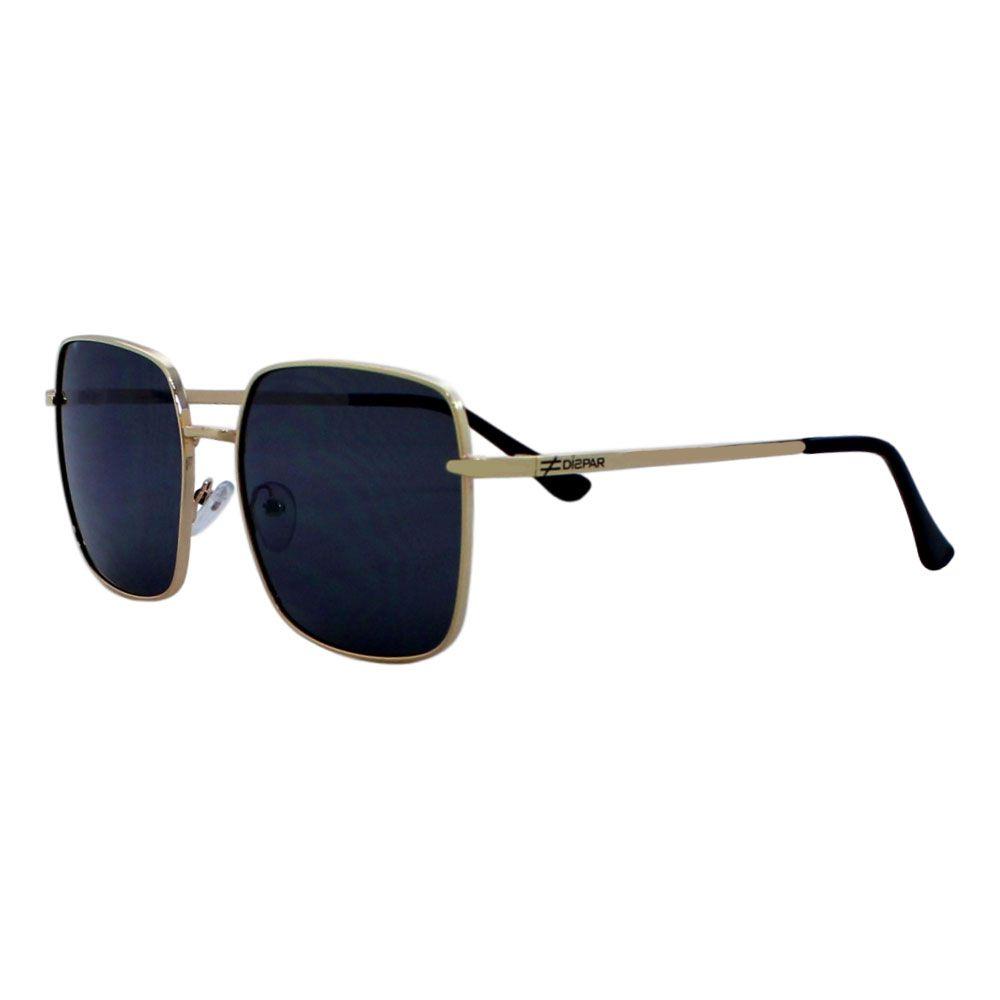 Óculos De Sol Díspar D2283 Quadrado - Dourado/Preto