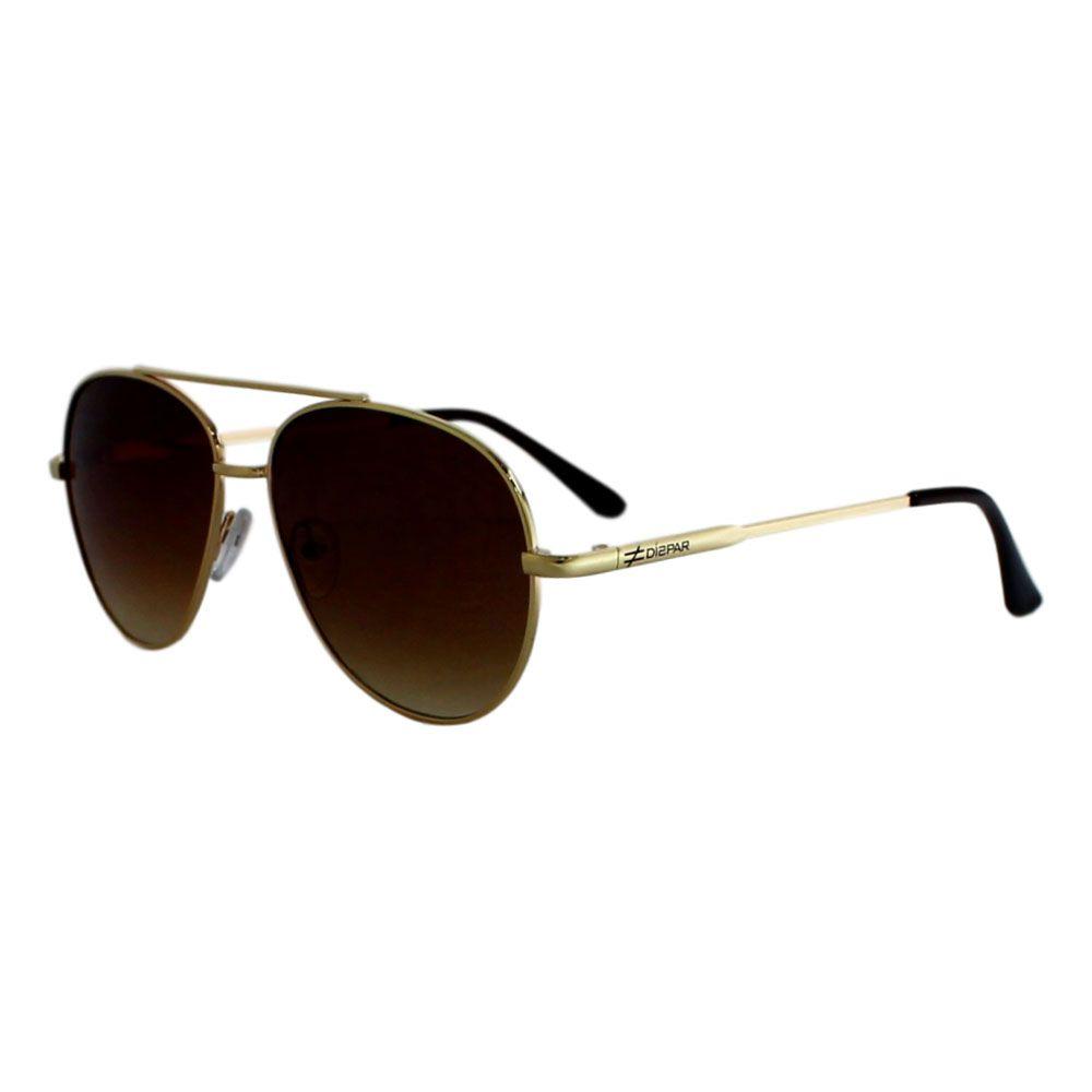 Óculos De Sol Díspar D2285 Aviador - Dourado