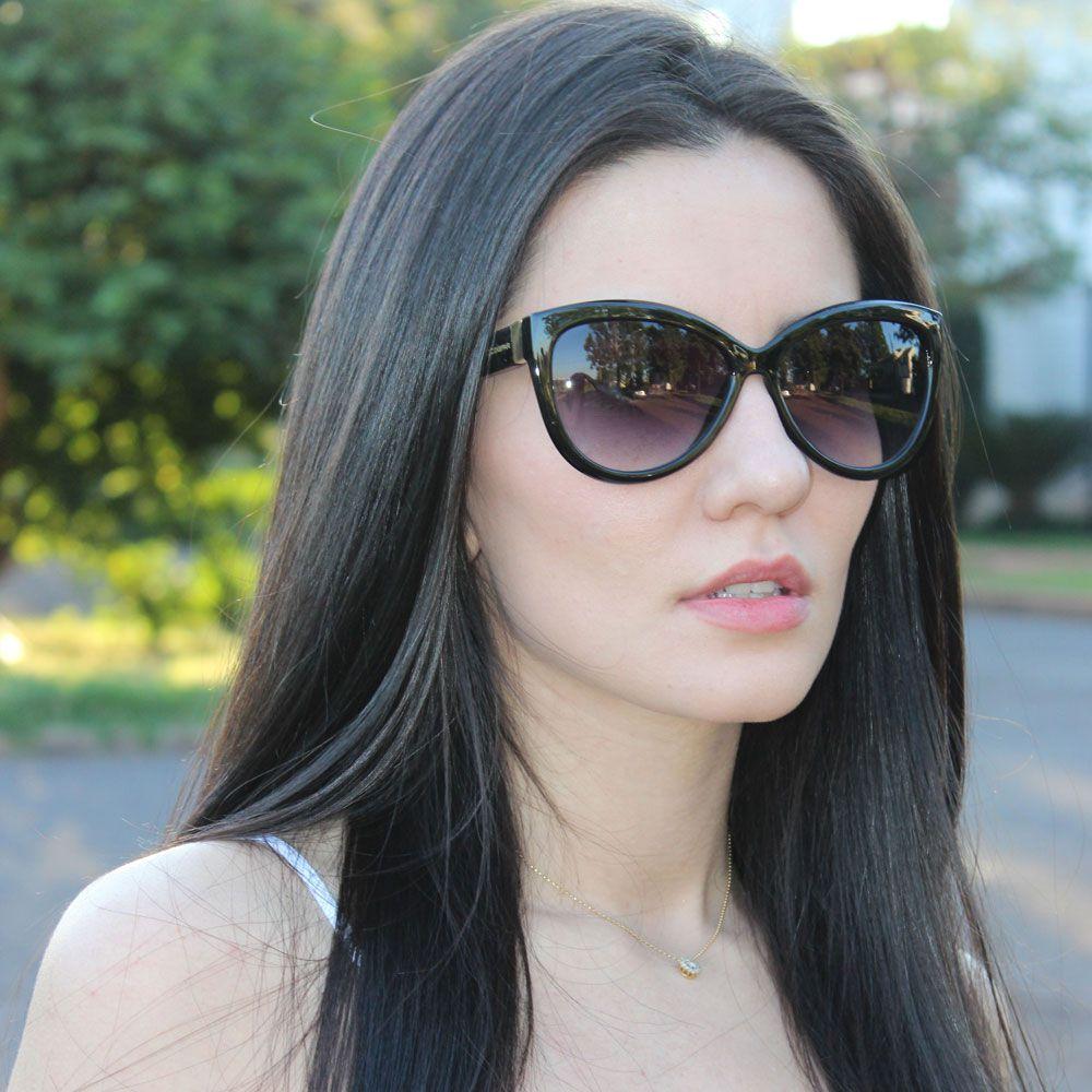 Óculos De Sol Díspar D2289 Borboleta - Preto