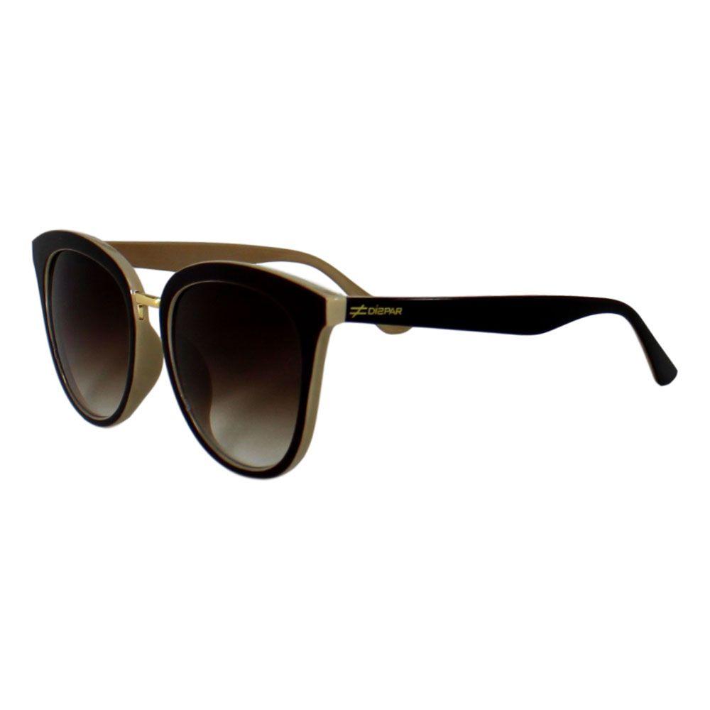 Óculos De Sol Díspar D2290 Borboleta - Marrom/Crema