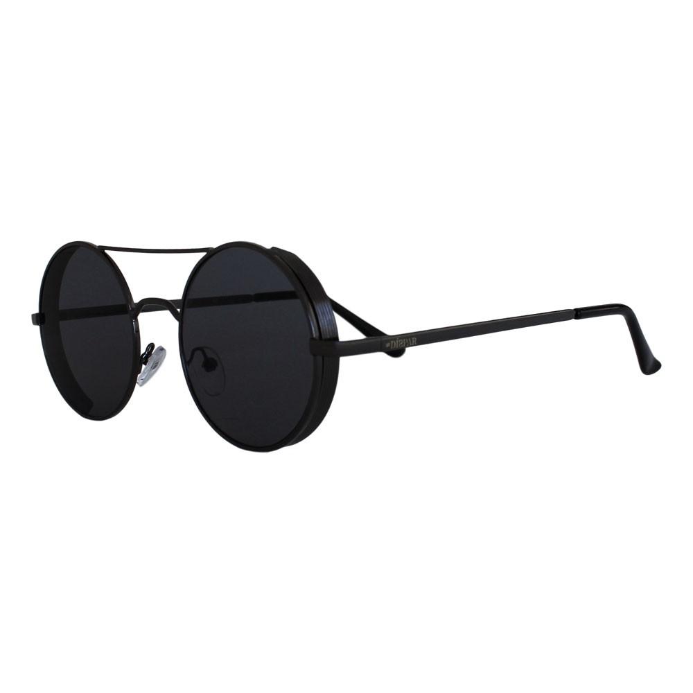 Óculos De Sol Díspar D2327 Redondo Vintage Proteção Lateral - Chumbo