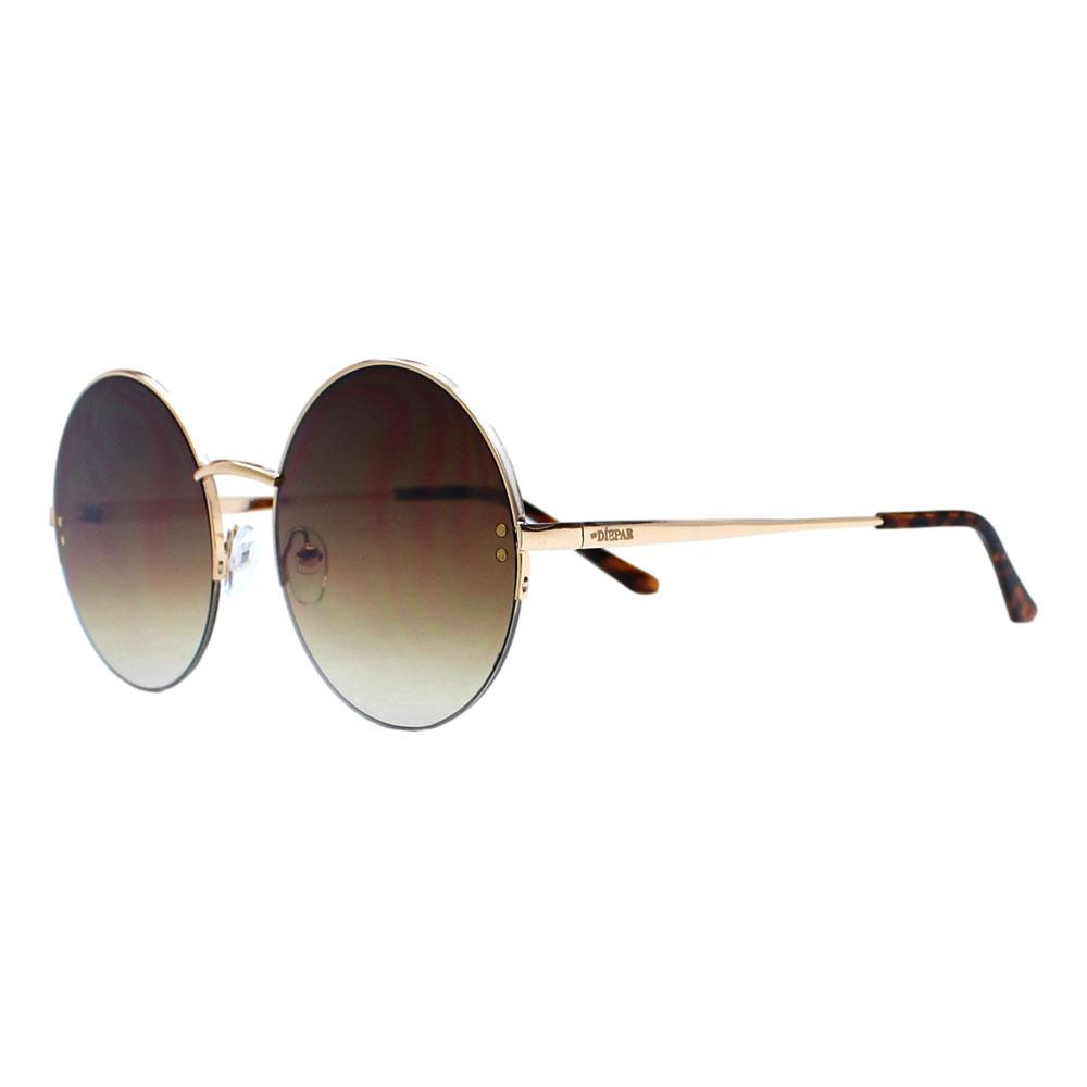 Óculos De Sol Díspar D2401 Redondo - Dourado