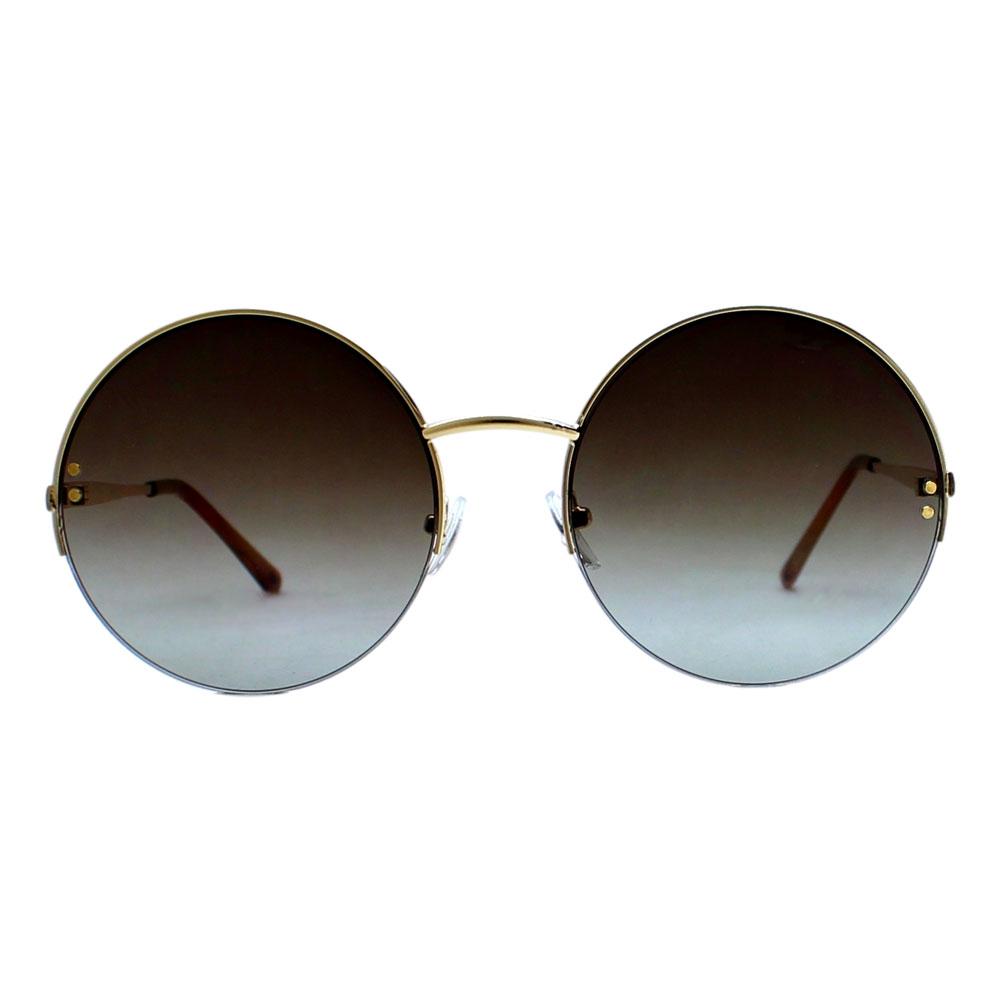 Óculos De Sol Díspar D2401 Redondo - Dourado/G15