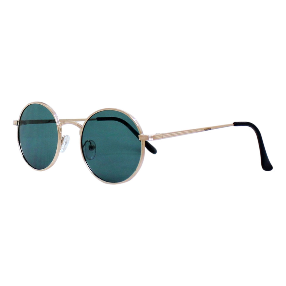 Óculos De Sol Díspar D2464 Redondo - Dourado/Verde G15