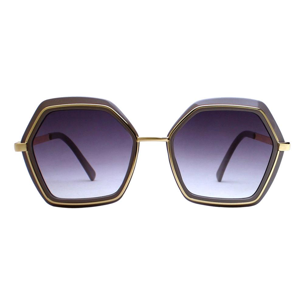 Óculos de Sol Díspar D2465 Geométrico - Nude