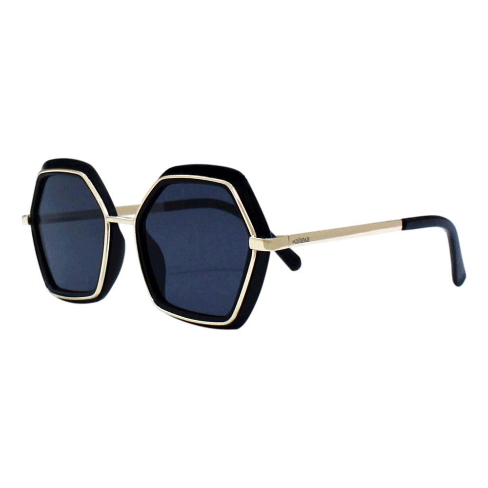 Óculos de Sol Díspar D2465 Geométrico - Preto