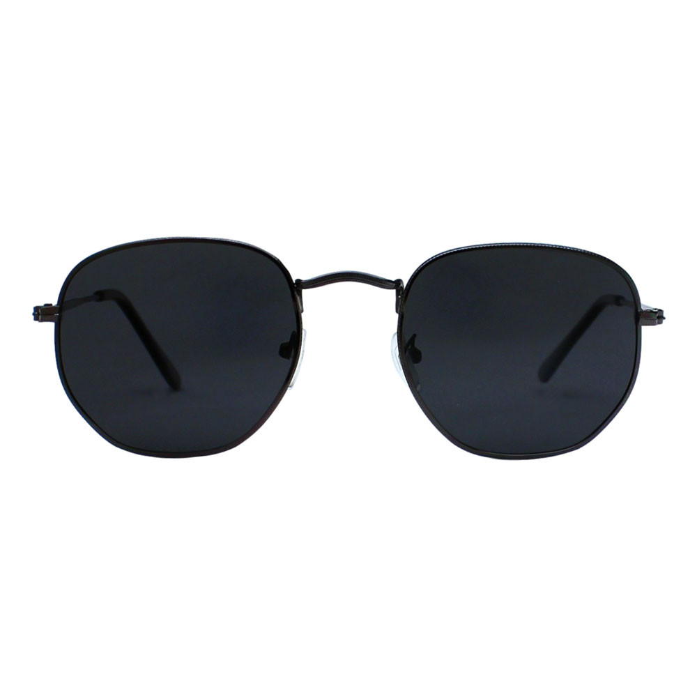 Óculos De Sol Díspar D2499 Hexagonal/Lentes Polarizadas - Chumbo