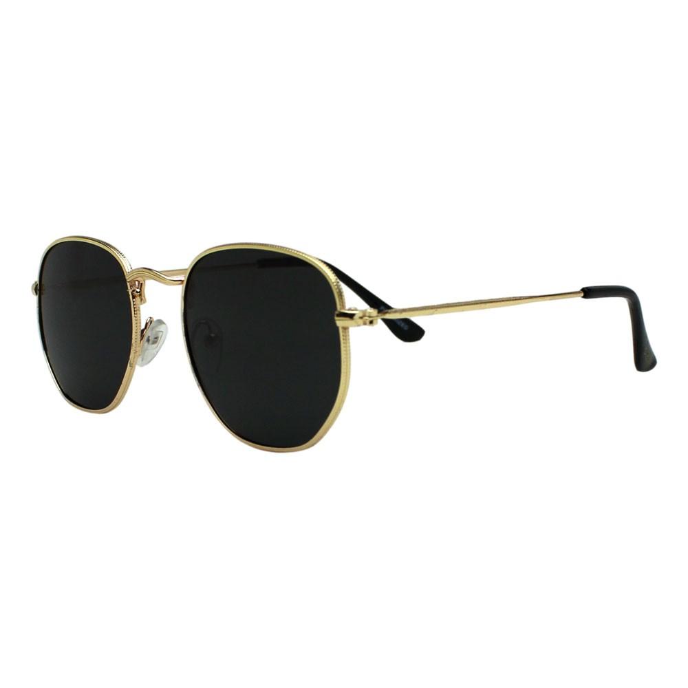 Óculos De Sol Díspar D2499 Hexagonal/Lentes Polarizadas - Dourado