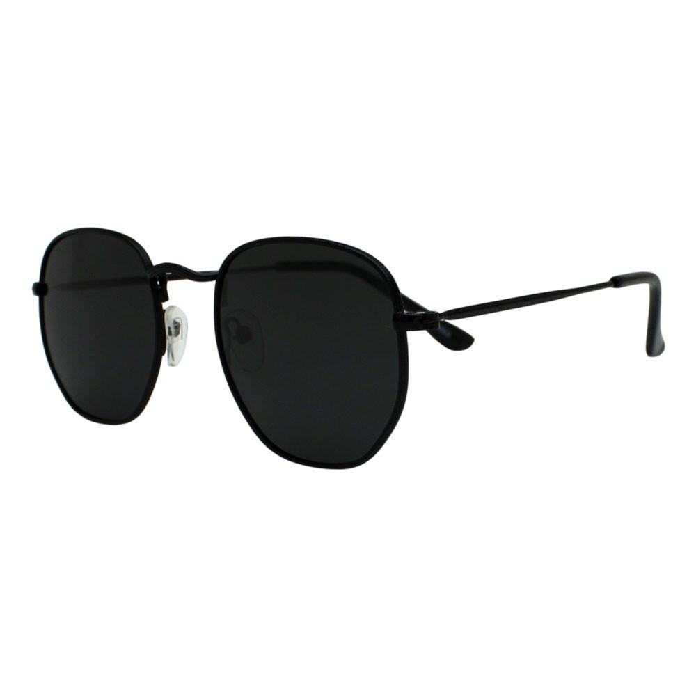 Óculos De Sol Díspar D2499 Hexagonal/Lentes Polarizadas - Preto