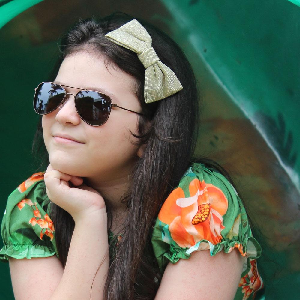 Óculos de Sol Díspar ID1799 infantil - Marrom