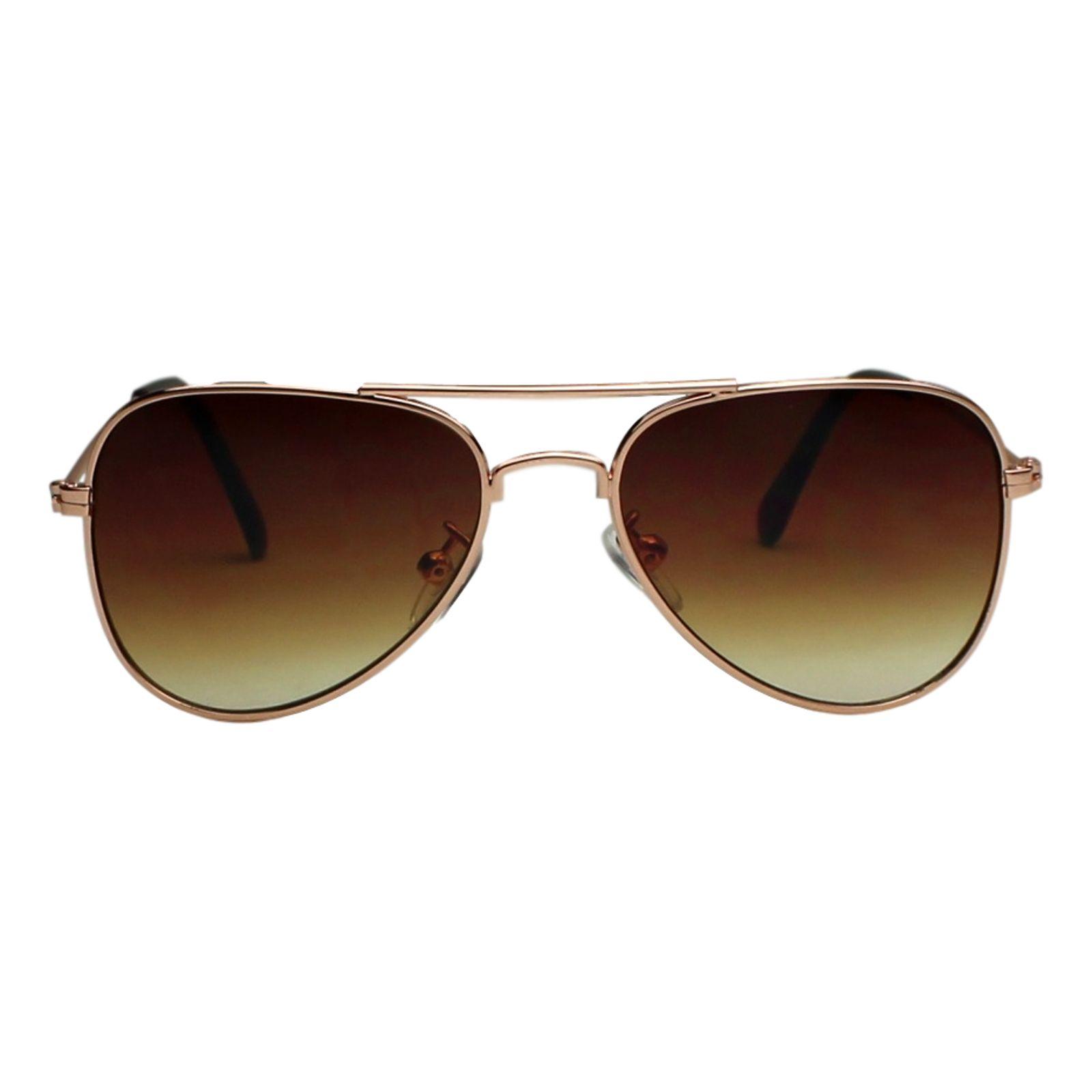 Óculos de Sol Díspar ID1903 infantil Aviador idade 6 a 9 anos Dourado