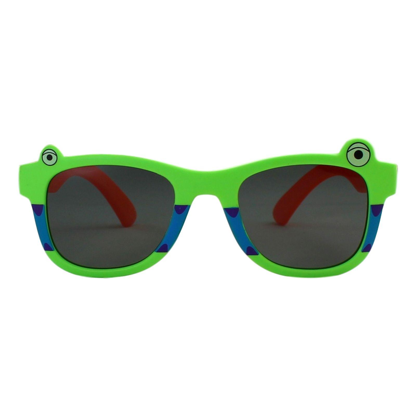 Óculos de Sol Díspar ID1958 Flexível Infantil - 6 a 9 anos - Verde