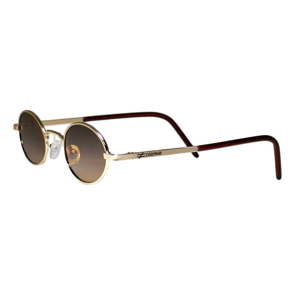 Óculos de Sol Díspar D1978 Oval Skinny - Dourado