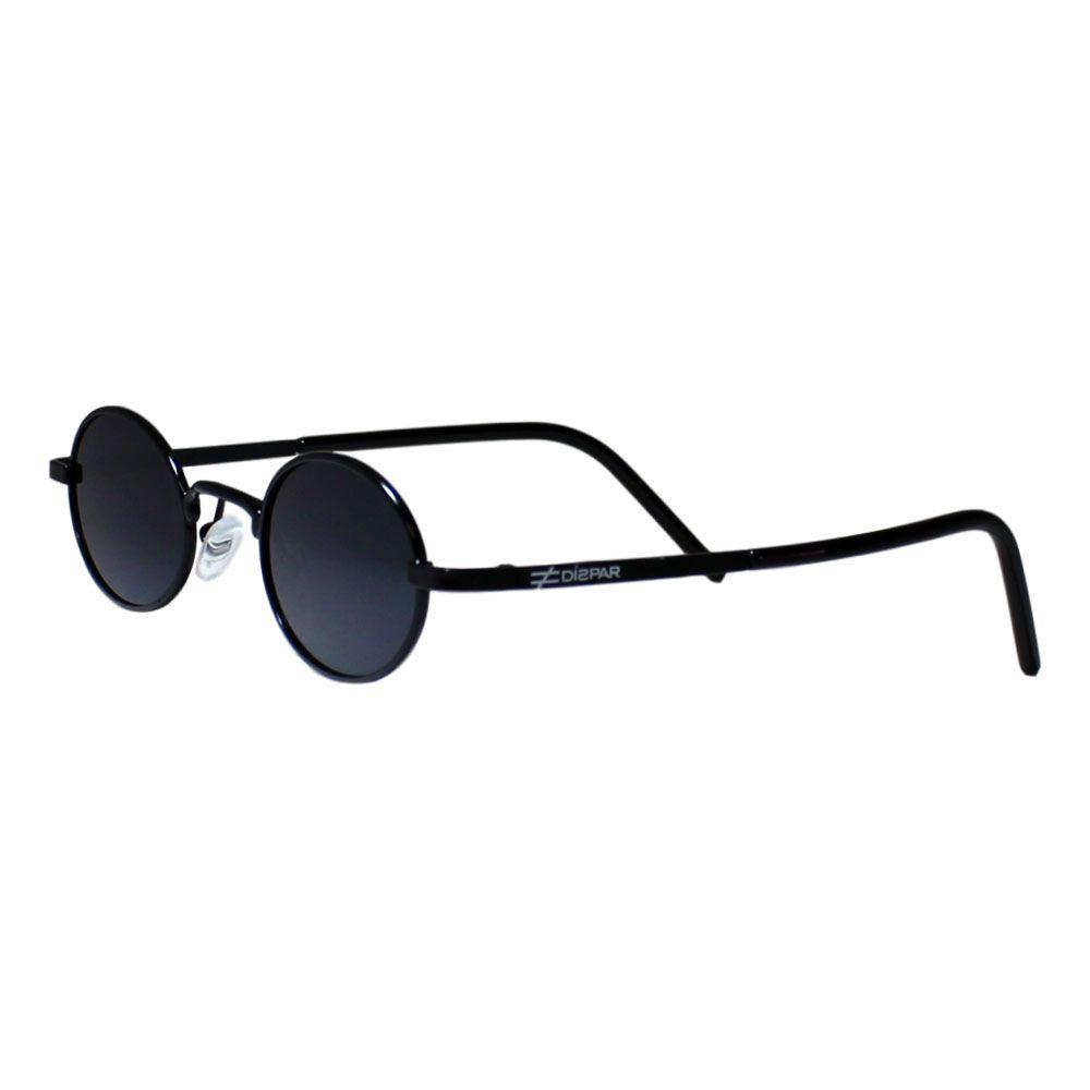Óculos de Sol Díspar D1978 Oval Skinny - Preto