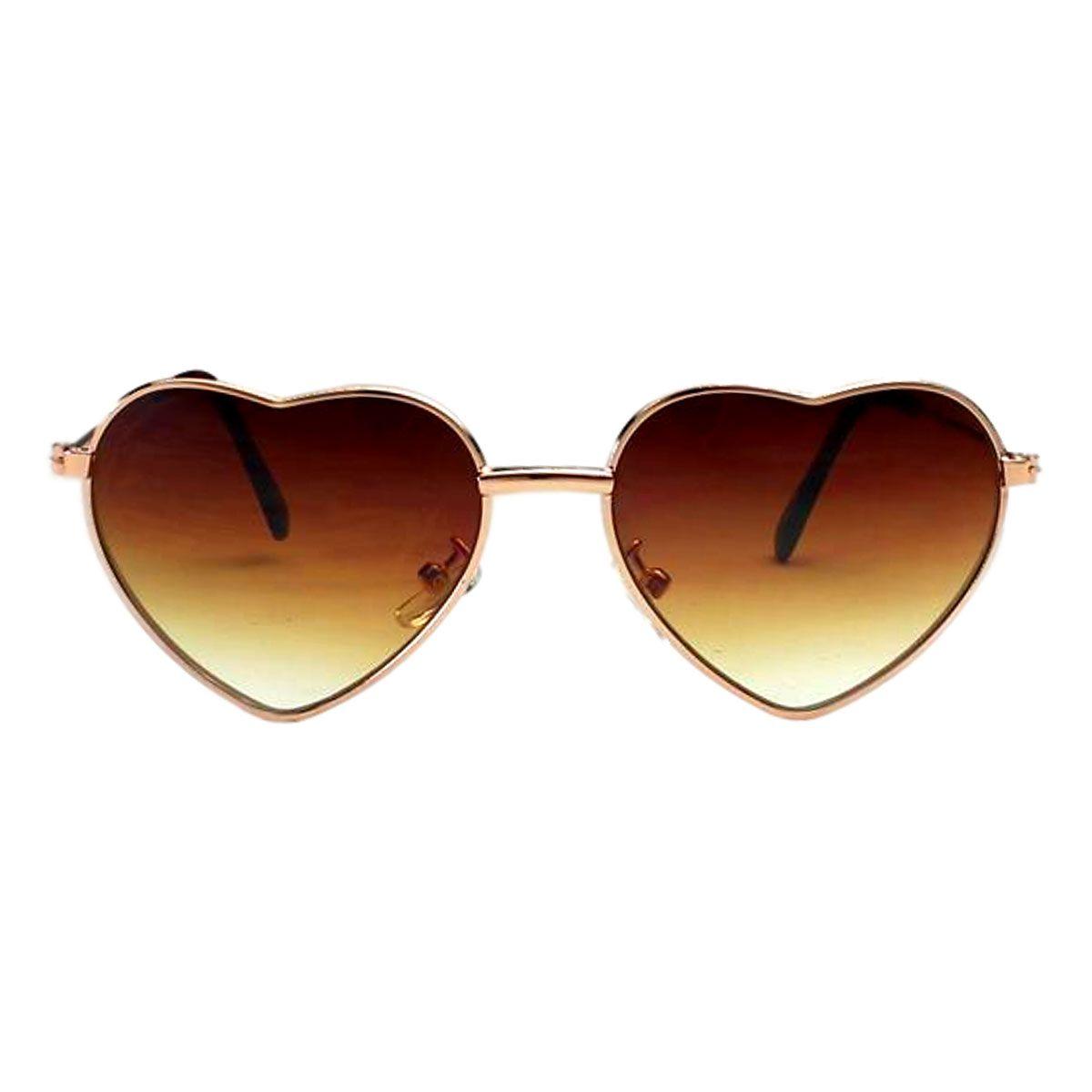 Óculos de Sol Díspar ID1993 Coração Infantil - 9 a 12 anos - Dourado