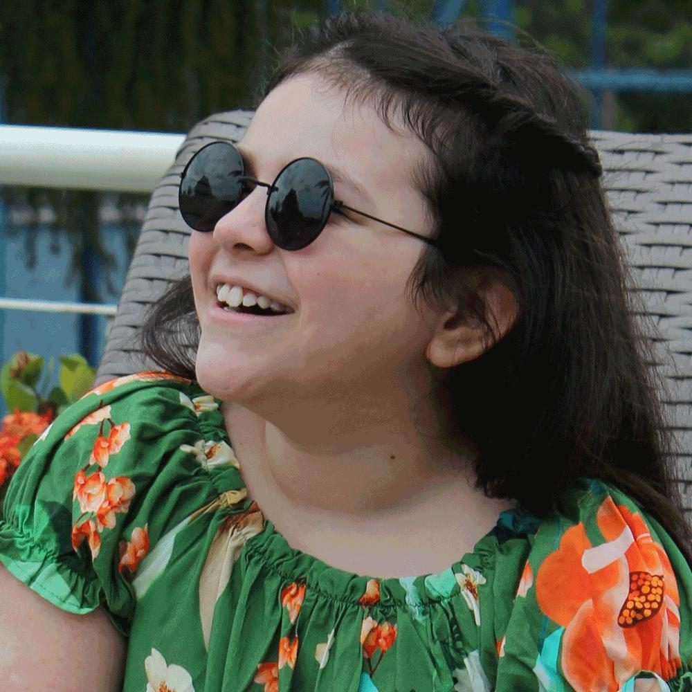 Óculos De Sol Díspar ID2472 Redondo Infantil 9 a 14 anos - Preto
