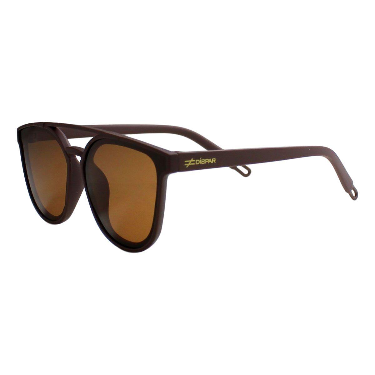 Óculos De Sol Díspar Infantil ID2041 Flexível Idade 6 a 9 anos - Marrom