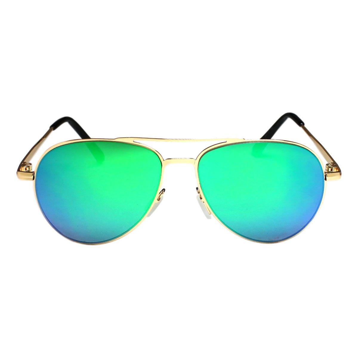 Óculos De Sol Díspar Infantil ID2042 Aviador Idade 6 a 9 anos - Verde
