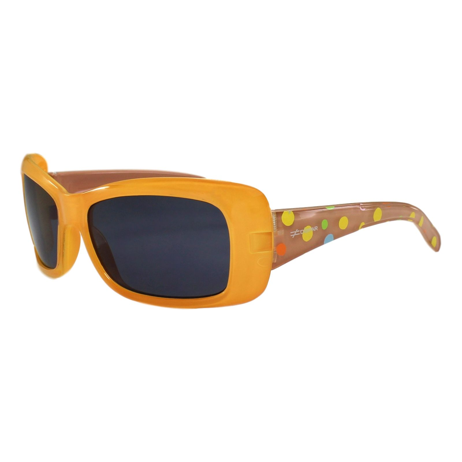 Óculos de Sol Díspar ID1734 Poá Infantil 6 a 9 anos - Proteção UV400 - Laranja