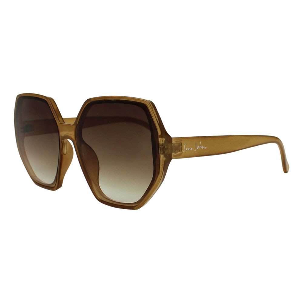 Óculos de Sol Sun John 5118 Geometric Caramelo
