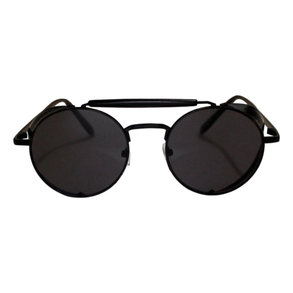 Óculos De Sol Sun John 5128 Round Side Protection - Preto