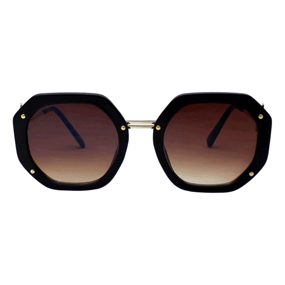 Óculos de sol Sun John 5130 Geometric - Marrom