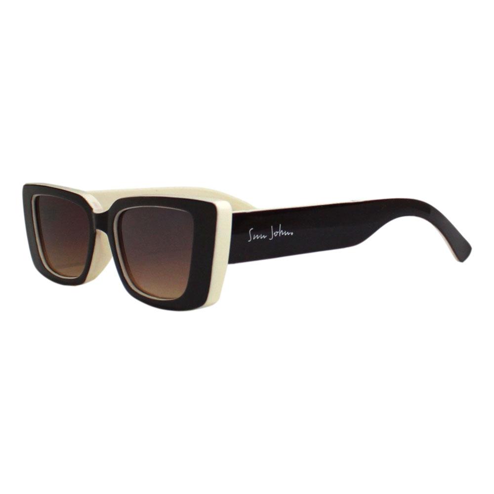 Óculos de sol Sun John 5134 Rectangular - Marrom/Crema