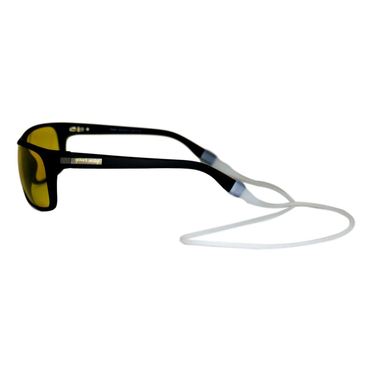 Óculos de sol Your Way 4261YW-Preto/Lentes Transparentes Amarelas