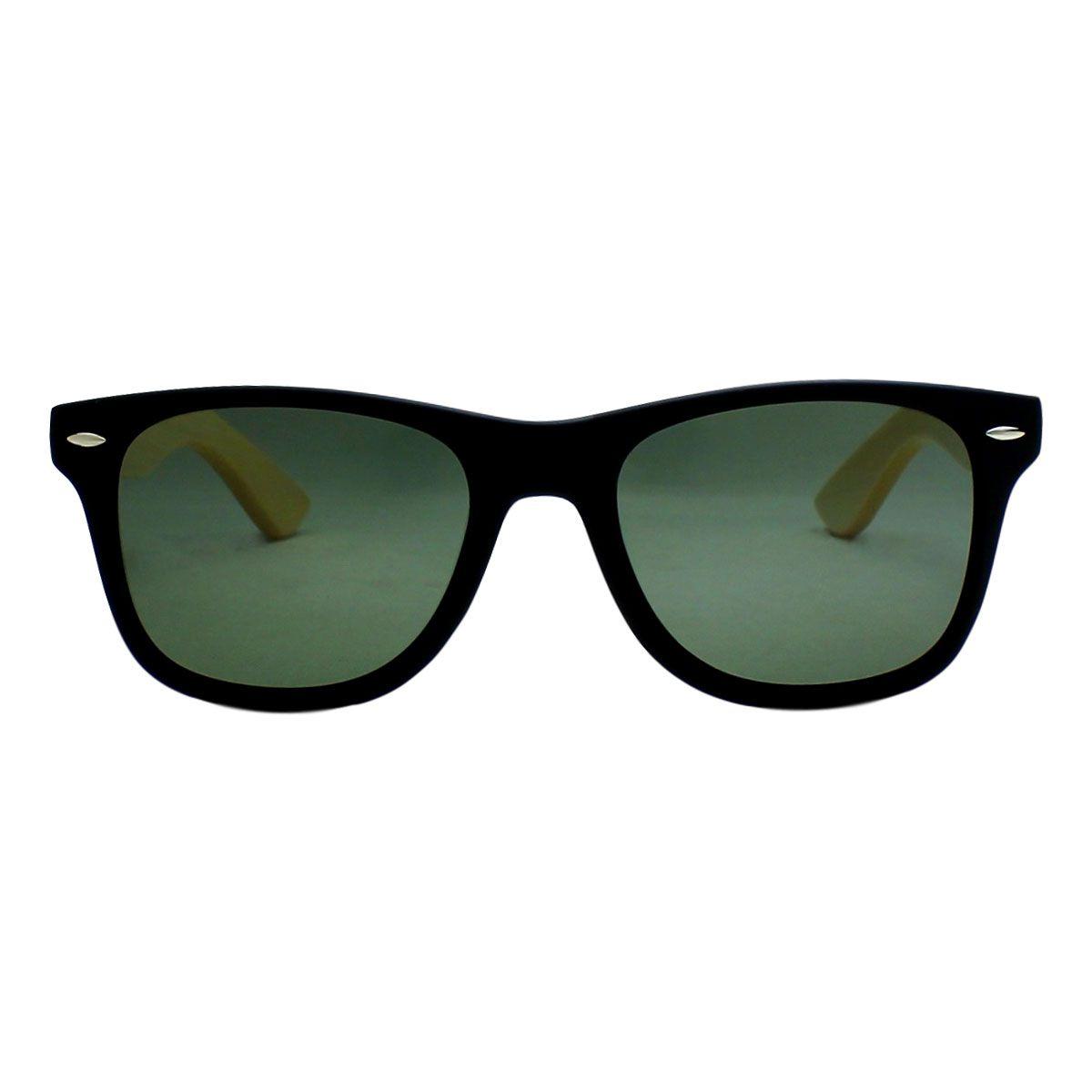Óculos de sol Your Way 4284YW Hastes Bambu Lentes Polarizadas G-15 - Preto
