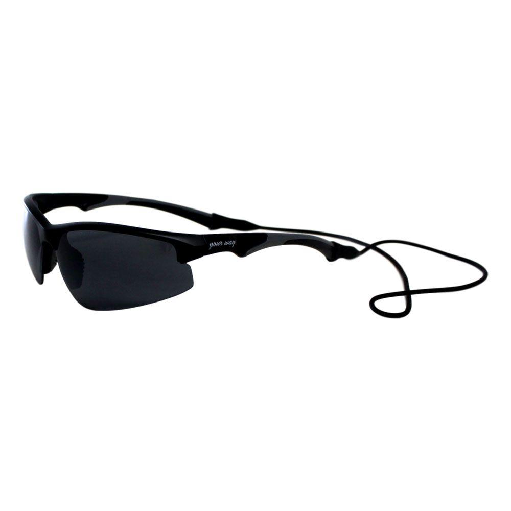 Óculos de sol Your Way 4293YW - Proteção UV400 - Preto/Cinza