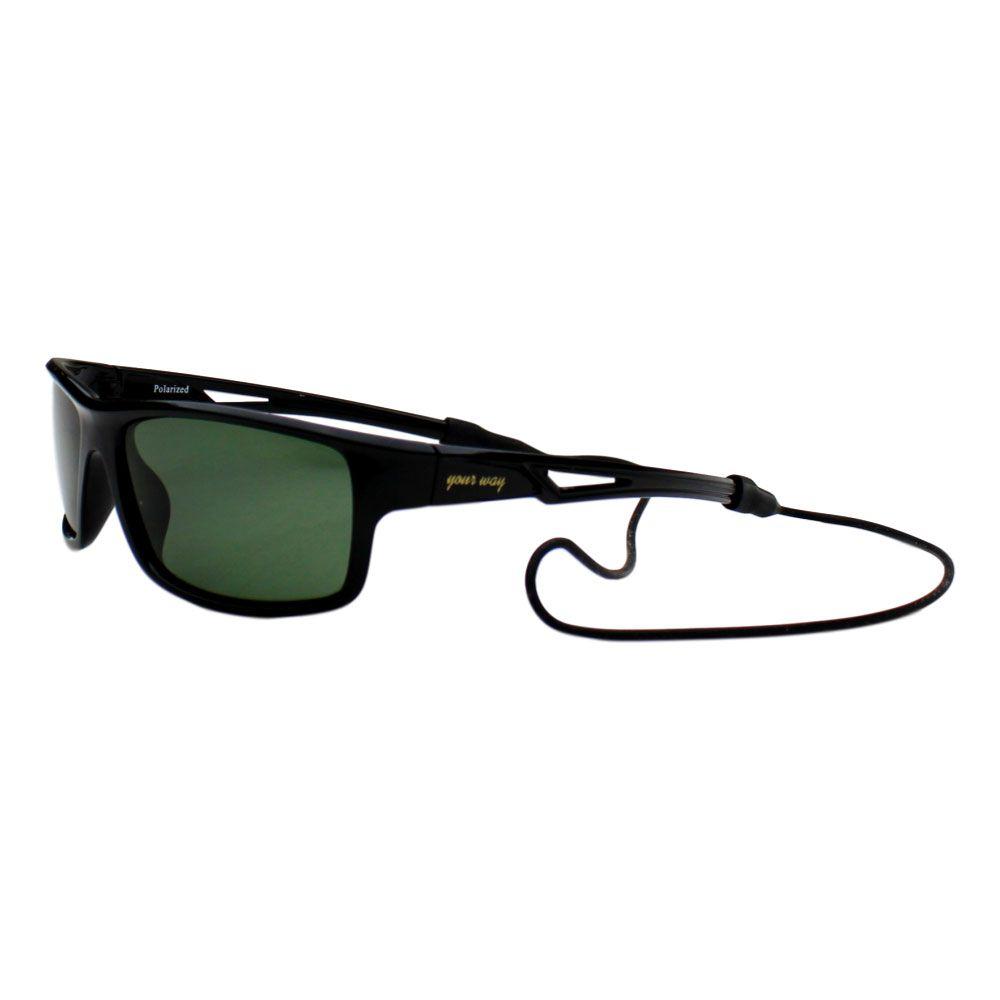 Óculos de sol Your Way 4294YW Lentes Polrizadas - Proteção UV400 - Preto/Cinza