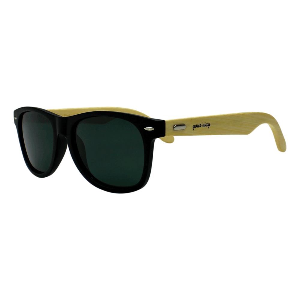 Óculos de sol Your Way 4304YW Lentes Polarizadas - Proteção UV400 - Preto/Bambu