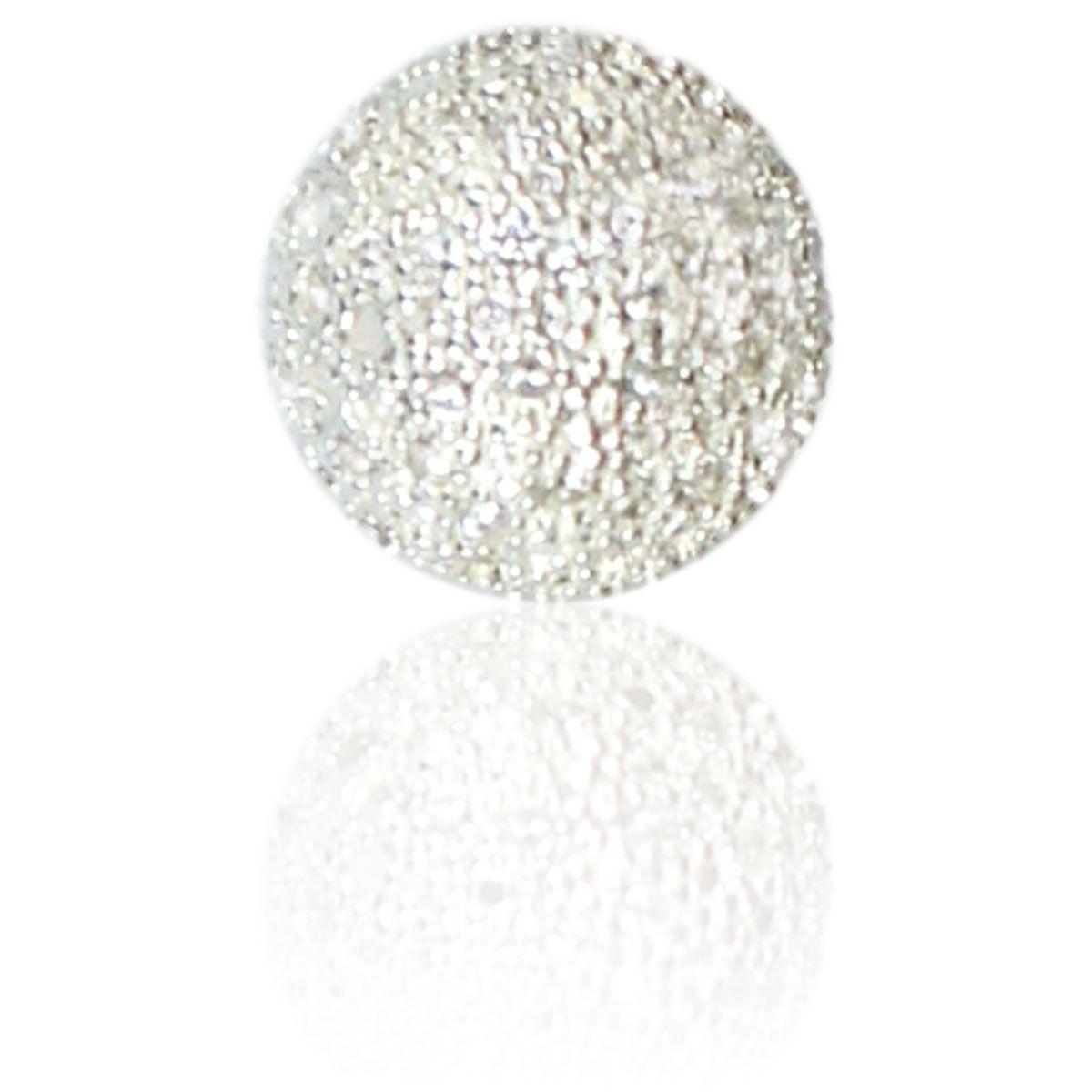 Pingente Díspar 2189 Meia Esfera Microzircônia - Prata