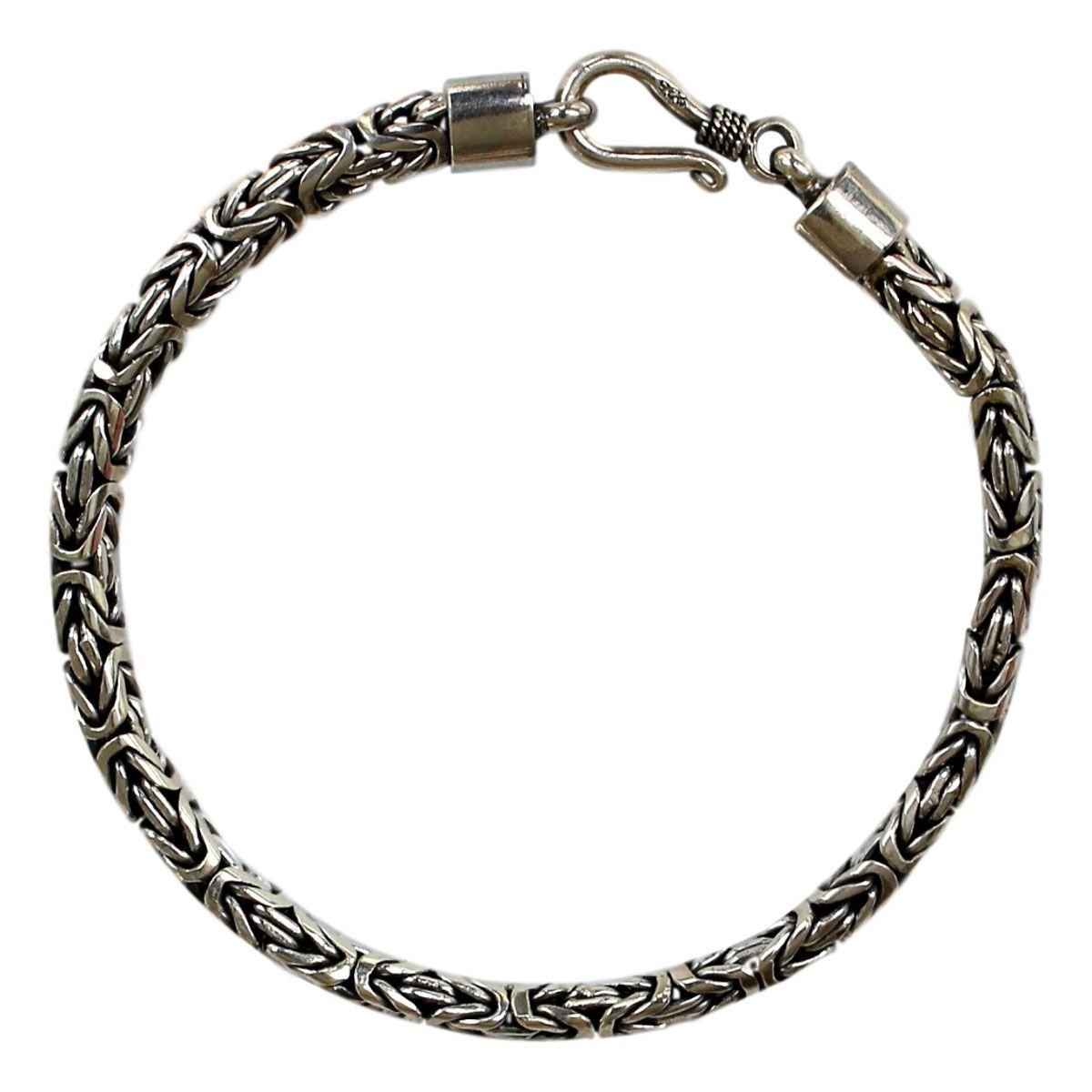 Pulseira Díspar 2142 Ponto Peruano 20 cm - Prata